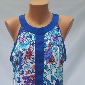 Womens Blouse by Nicole (size L) Sleeveless, Flowy